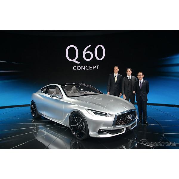 2015年1月12日、米国で開幕したデトロイトモーターショー15。日産自動車の海外向け高級車ブランド、インフ...