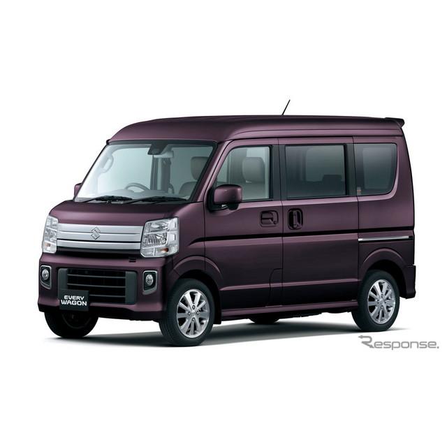スズキは、軽商用車『エブリイ』と軽乗用車『エブリイワゴン』を全面改良し、2月18日より発売する。  新...