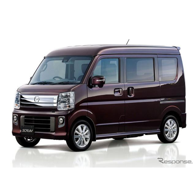 マツダは、軽乗用車『スクラムワゴン』と軽商用車『スクラムバン』をフルモデルチェンジし、3月5日より発売...