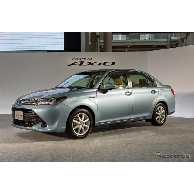 トヨタ自動車は、小型セダン『カローラ アクシオ』を改良し、4月1日に発売する。価格は146万4873円から220...