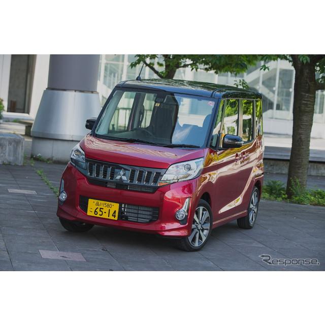 三菱自動車は、スーパーハイトワゴンタイプの軽『eKスペース』と『eKスペース カスタム』を一部改良し4月23...