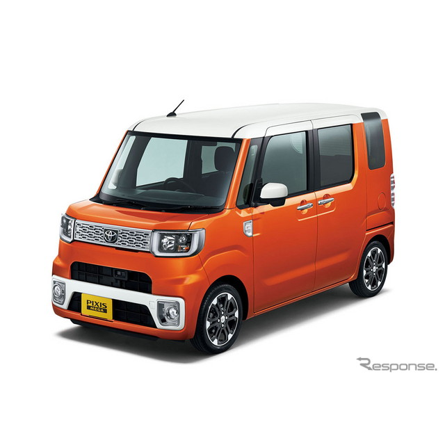トヨタ自動車は、新型軽乗用車『ピクシス メガ』を、全国の販売店208社を通じて、7月2日に発売した。  新...