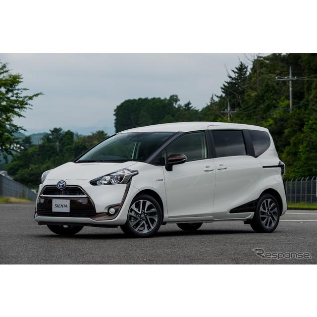 トヨタ自動車は、新型『シエンタ』を7月9日より発売した。ハイブリッドモデルを新たに設定し、JC08モード燃...