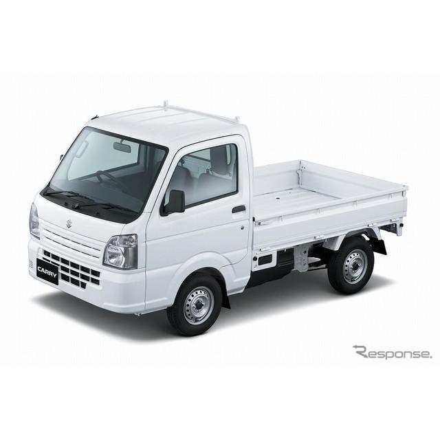 スズキは、軽トラック『キャリイ』を一部仕様変更し、8月20日より発売した。  今回の一部仕様変更では、...
