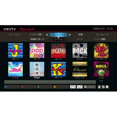 「ひかりTVミュージック」利用イメージ