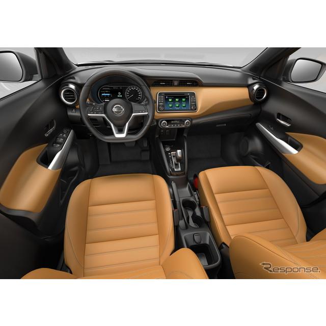 日産自動車が5月2日、ブラジルで発表した新型SUV、『キックス』。同車の内外装の詳細が、明らかにされた。...