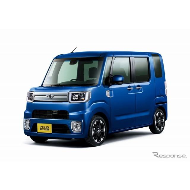 トヨタ自動車は、軽乗用車『ピクシス メガ』を一部改良するとともに新たに「レジャーエディション SA II」...