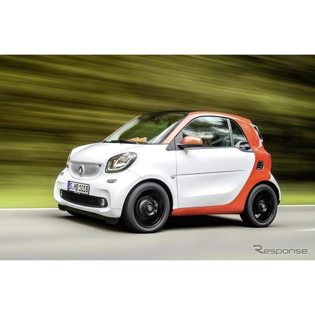 ドイツの高級車、メルセデスベンツ傘下のスマートは7月22日、『フォーツー』の2016年モデルを欧州で発表し...