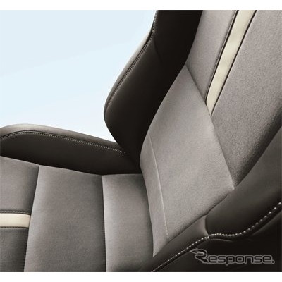東レのスエード調人工皮革 ウルトラスエードが採用されたシートとヘッドレスト