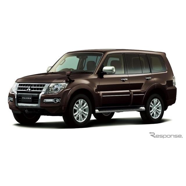 三菱自動車は、SUVモデル『パジェロ』を一部改良し、10月27日より販売を開始した。  今回の一部改良では...