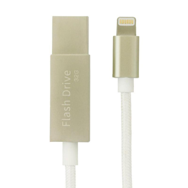 32GB USB(3.0)メモリ一体型 MFI認証 Lightning充電ケーブル