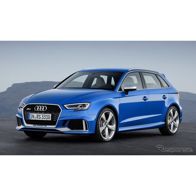 ドイツの高級車メーカー、アウディは2月10日、改良新型『RS3 スポーツバック』を欧州で発表した。  改良...
