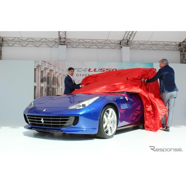 フェラーリ・ジャパンは『GTC4ルッソT』を発表した。価格は2970万円。このクルマはV型12気筒エンジンの『GT...