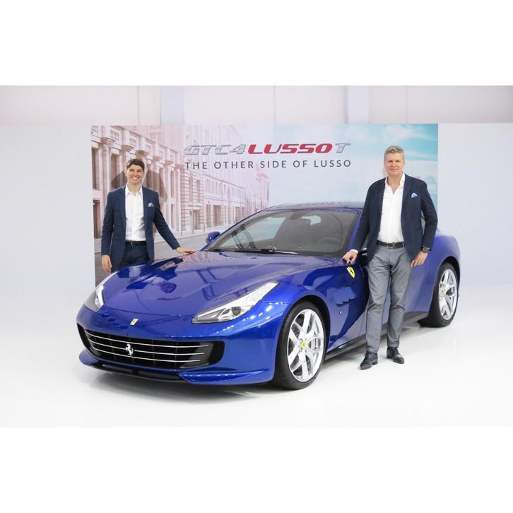 フェラーリ・ジャパンは2017年3月16日、「GTC4ルッソT」を日本で初披露した。   フェラーリGTC4ルッソT...