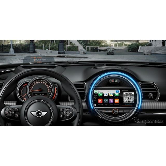 BMWグループのMINIは5月17日、2017年夏以降の生産車から、インストルメントパネルを一部変更し、車載コネク...