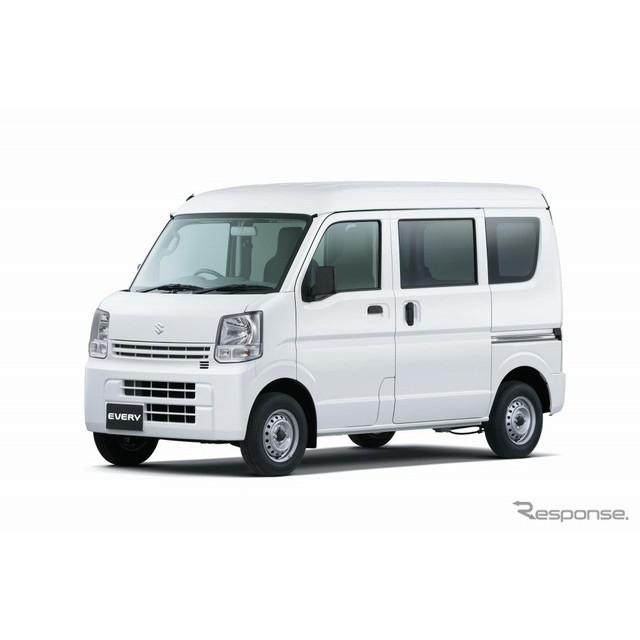 スズキは、軽商用車『エブリイ』全機種に4AT搭載車を設定し、5月19日より発売。また、福祉車両「エブリイ ...