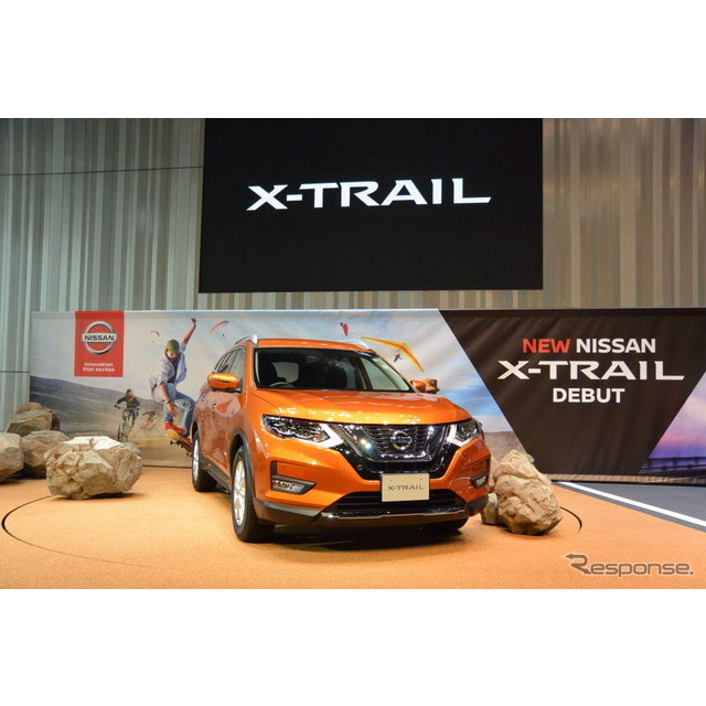 日産自動車エクストレイル改良新型発表会