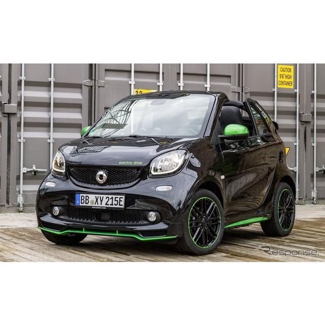 ドイツの高級車、メルセデスベンツ傘下のスマートは6月23日、新型『フォーツー カブリオ・エレクトリックド...