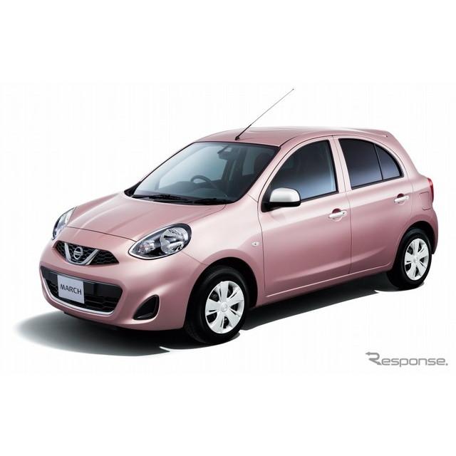 日産自動車は、小型乗用車『マーチ』に新グレード「パーソナライゼーション」を追加し、7月5日より販売を開...