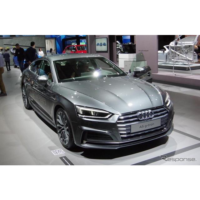 ドイツの高級車メーカー、アウディは8月17日、新型『A4アバント』と新型『A5スポーツバック』のCNG(天然ガ...