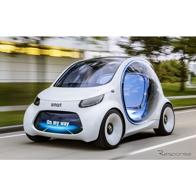 メルセデスベンツ傘下のスマートは8月30日、『ビジョンEQフォーツー』の概要を明らかにした。実車は9月12日...