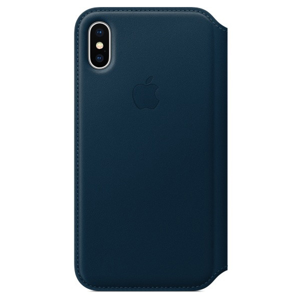 「iPhone X レザーフォリオケース」