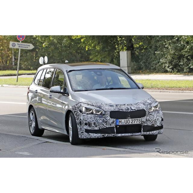 BMW『2シリーズ グランツアラー』のLCI(ライフ・サイクル・インパルス=改良モデル)プロトタイプをキャッ...