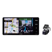 ドライブレコーダー機能内蔵、フロントカメラ同梱の「AVN-D8W」。取り付け幅200mmに対応...