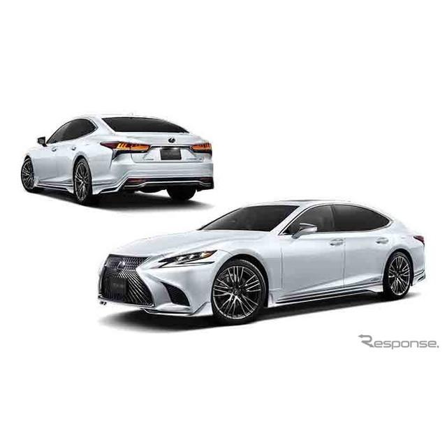 トヨタモデリスタインターナショナルは、新型レクサス『LS』の発売に伴い、「Fスポーツパーツ」として各種...