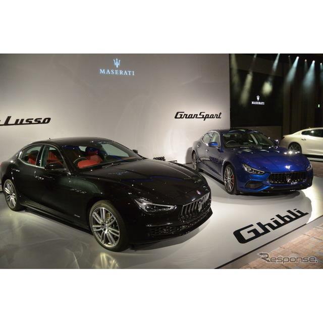 マセラティジャパンは11月7日に都内で、主力車種『ギブリ』の2018年モデルを報道陣に公開した。グイド・ジ...