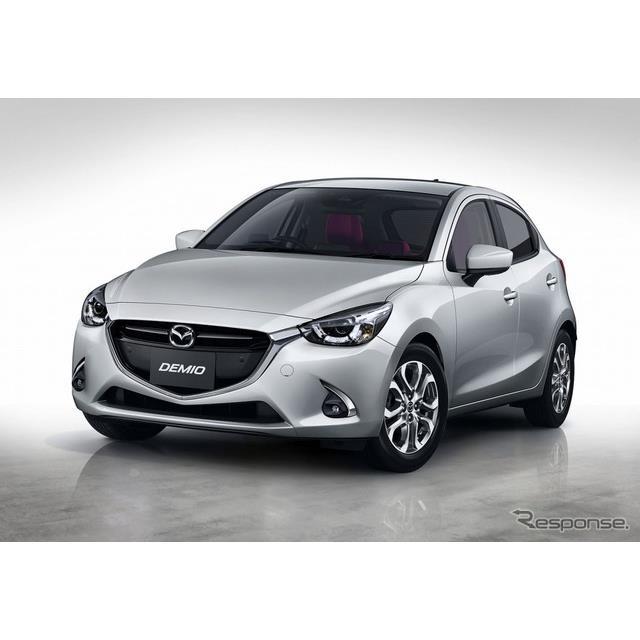 マツダは、小型乗用車『デミオ』の先進安全技術「i-アクティブセンス」の採用を拡充するとともに、赤基調の...