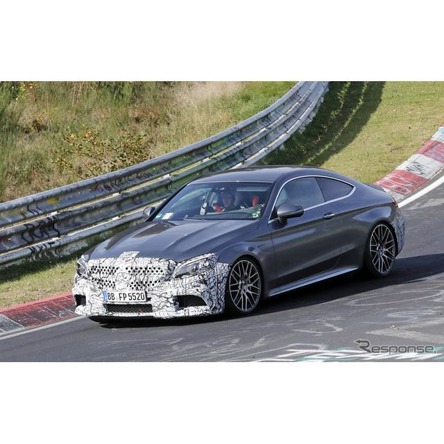 メルセデスベンツ『Cクラスクーペ』のハードコアモデル、『AMG C63』改良新型プロトタイプがニュルブルクリ...