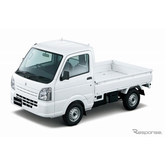 スズキは、軽トラック『キャリイ』の安全性向上と機能・装備の充実を図り、11月13日より発売する。  今回...