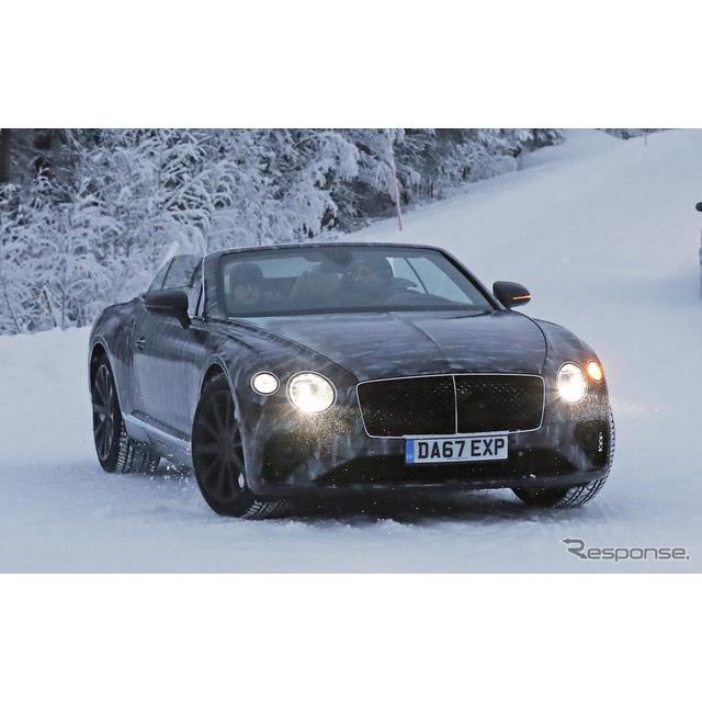 ベントレーの2ドアクーペ『コンチネンタルGT』のドロップトップバージョンとなる、「GTC」次期型が、豪雪の...