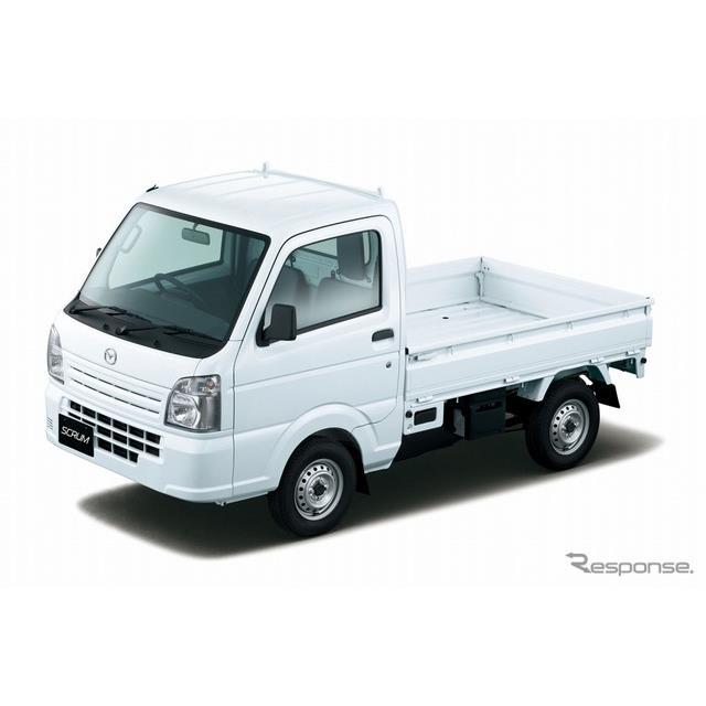 マツダは、軽商用車「マツダ スクラムトラック」を一部商品改良し、11月22日より販売を開始した。  今回...