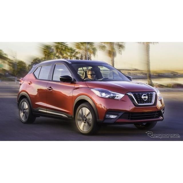 日産自動車は11月29日、米国で開幕したロサンゼルスモーターショー2017において、『キックス』を米国市場に...