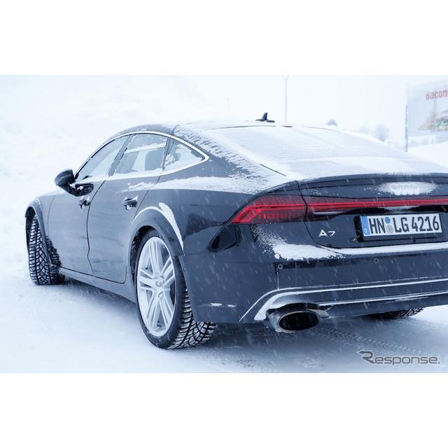 アウディ『A7スポーツバック』の高性能モデルとなる、『RS7 スポーツバック』次期型プロトタイプが、寒冷地...
