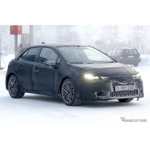 トヨタのCセグハッチバック、『オーリス』後継モデルが初の寒冷気候テストに姿を見せた。これまでで最も開...
