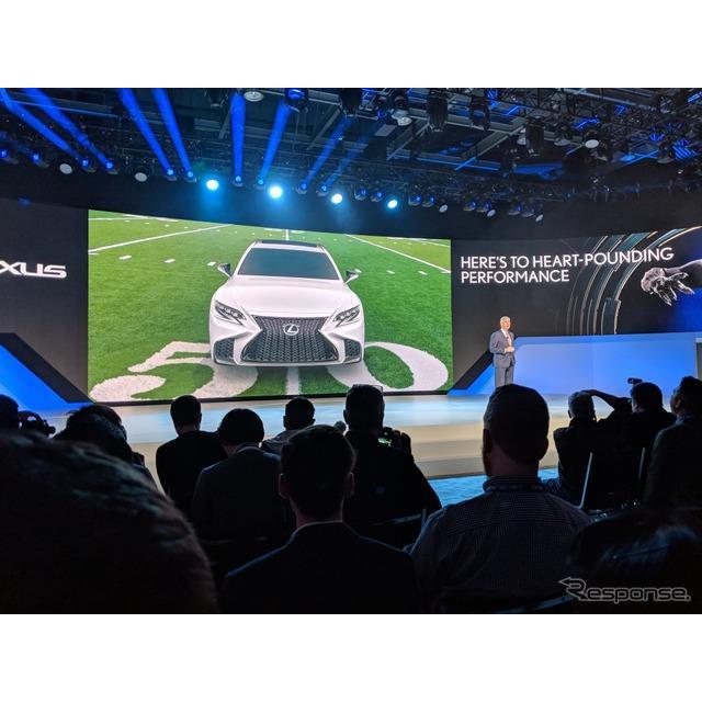レクサスは1月15日、米国で開幕したデトロイトモーターショー2018において、新型『LS』の米国価格を公表し...
