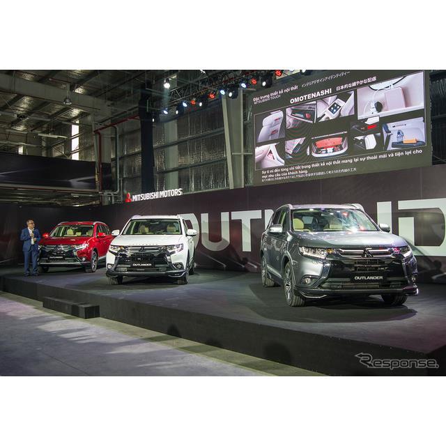 三菱自動車は23日に、ベトナム社会主義共和国でミッドサイズSUV『アウトランダー』の現地生産を開始した。...