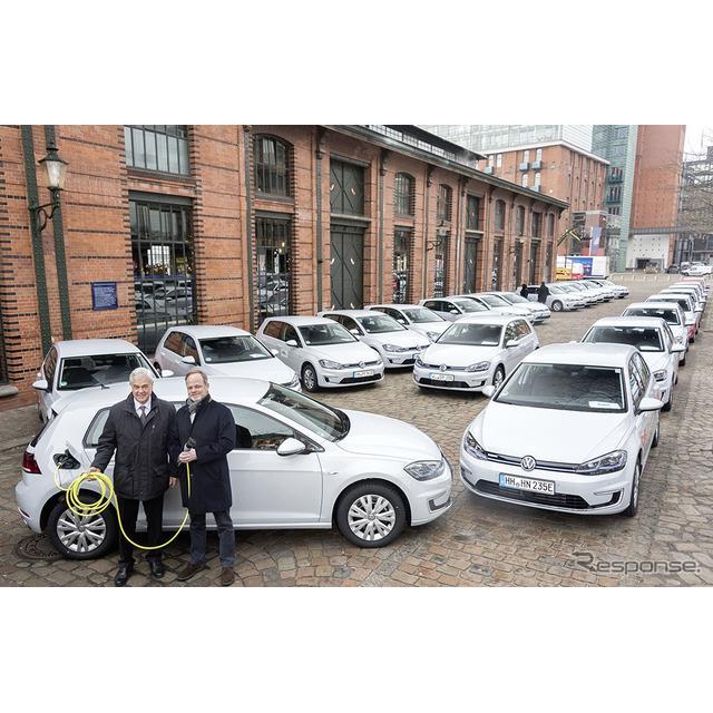 フォルクスワーゲングループは2月22日、ドイツ・ハンブルク市とのパートナーシップの一環として、『e-ゴル...