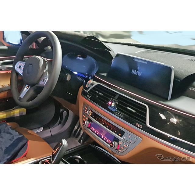 BMWのフラッグシップ・4ドアセダン、『7シリーズ』改良新型の生産型プロトタイプを、レスポンスの兄弟サイ...
