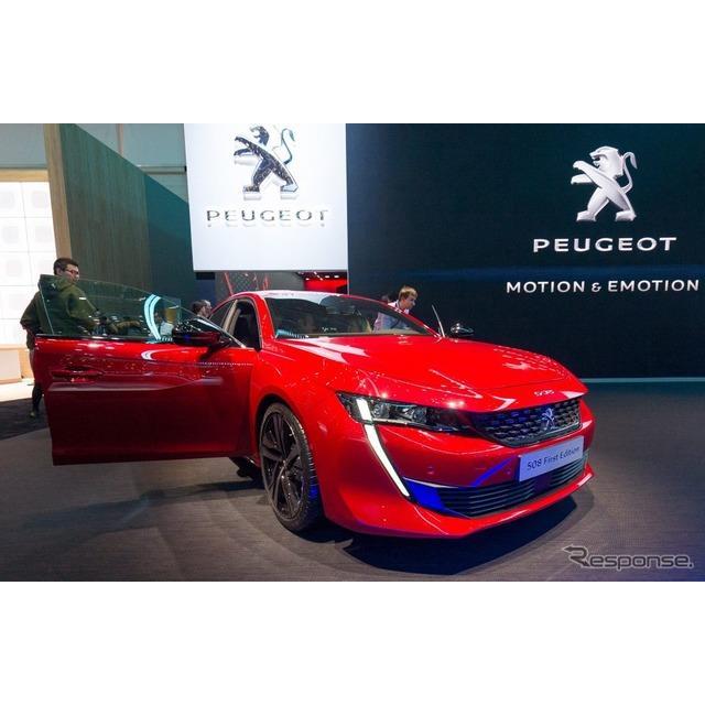 プジョーはジュネーブモーターショー2018において、新型『508』の「ファーストエディション」を初公開した...