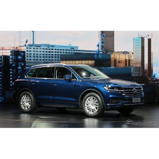 フォルクスワーゲンは3月23日、中国北京市において、新型『トゥアレグ』を発表した。3世代目となる新型は、...