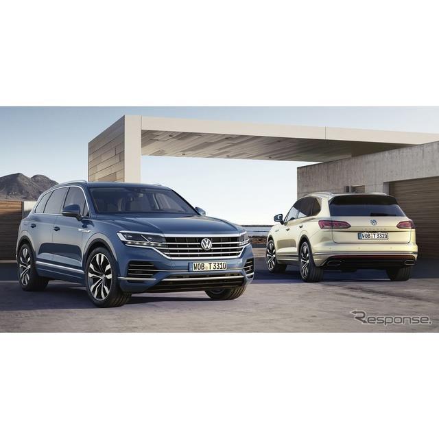 フォルクスワーゲンは、中国北京市で初公開した新型『トゥアレグ』に、プラグインハイブリッド車(PHV)を...