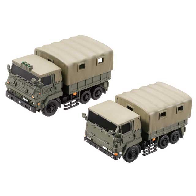 miniQ ミニチュアキューブ008 陸上自衛隊 3トン半トラック新旧セット(73式大型トラック)