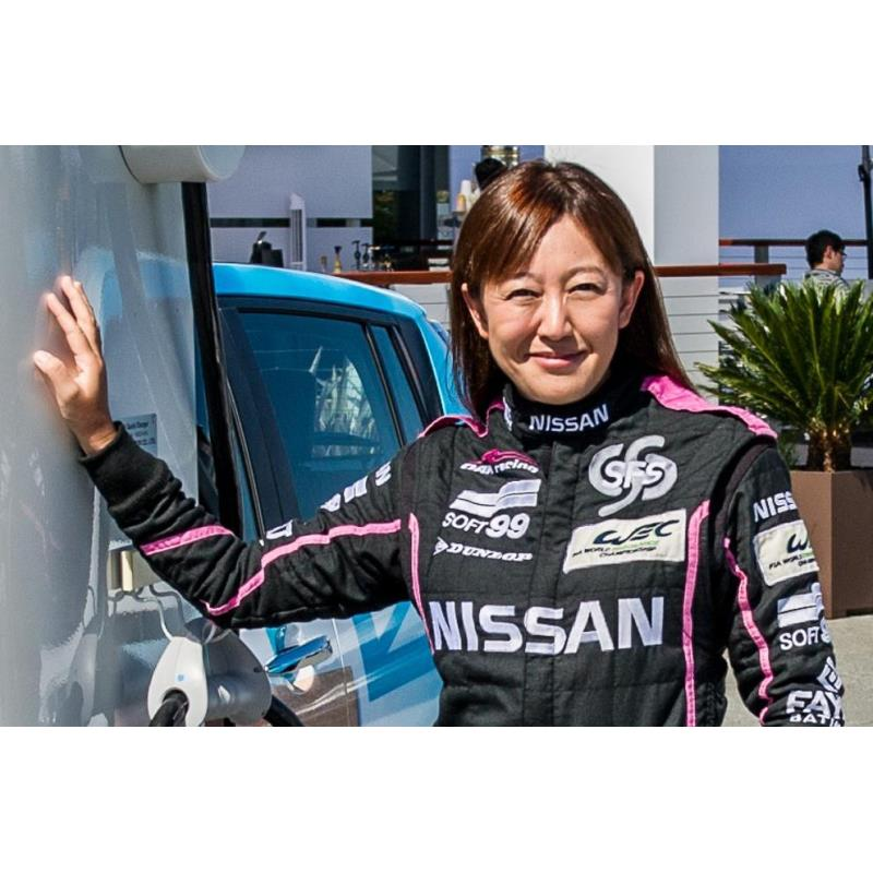レーシングドライバーの井原慶子氏。