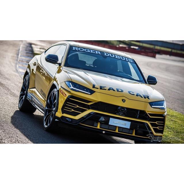 ランボルギーニは5月22日、新型SUVの『ウルス』(Urus)のペースカーを発表した。  ウルスは、『アヴェン...