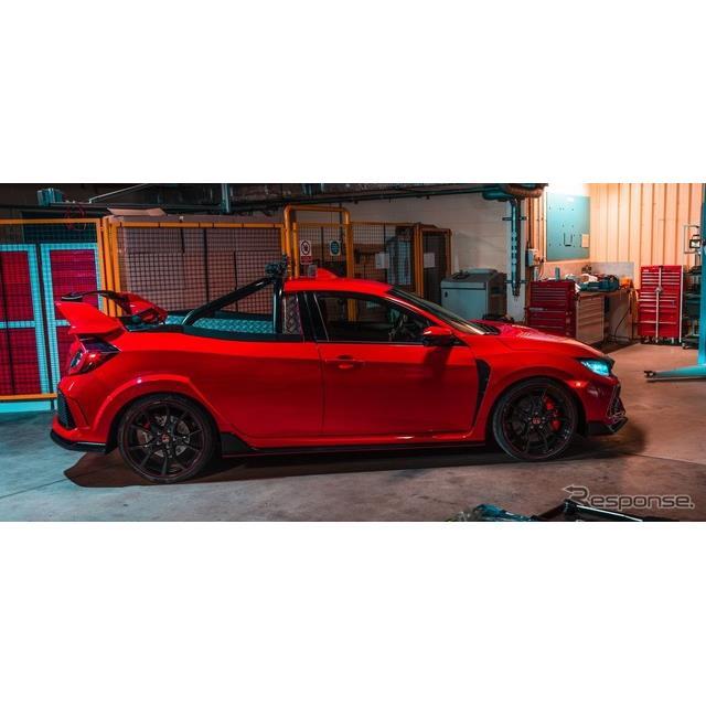 ホンダは5月24日、新型『シビックタイプR』の「ピックアップトラックコンセプト」を英国で発表した。  同...