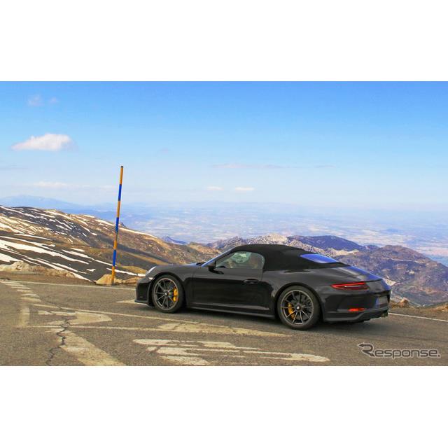 ポルシェ 911スピードスター スクープ写真